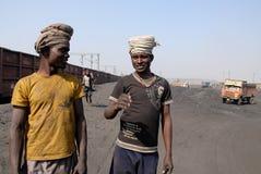 Mineurs de charbon en Inde Photos stock
