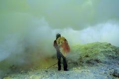 Mineurs de soufre Photo libre de droits