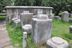 ming的南京宫殿废墟 图库摄影