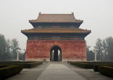 ming的寺庙坟茔 免版税库存照片