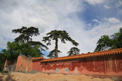 ming老坟茔的北京circumvallation 免版税库存图片