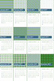 Ming and bilbao colored geometric patterns calendar 2016 Stock Photo