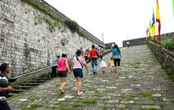 Ming City Wall av den Nanjing Zhonghua porten Fotografering för Bildbyråer