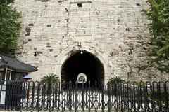 Ming City Wall da porta de Nanjing Zhonghua Imagens de Stock