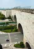 Ming City Wall de porte de Nanjing Zhonghua Photographie stock libre de droits