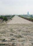 Ming City Wall de porte de Nanjing Zhonghua Image libre de droits