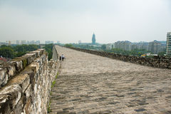 Ming City Wall de porte de Nanjing Zhonghua Photos stock