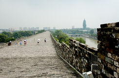 Ming City Wall of Nanjing Zhonghua Gate Royalty Free Stock Images