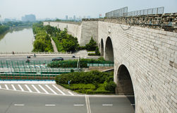 Ming City Wall of Nanjing Zhonghua Gate Stock Images