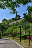Ming Dynasty City Wall en la primavera imagen de archivo libre de regalías