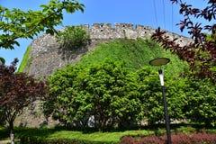 Ming Dynasty City Wall en la primavera foto de archivo