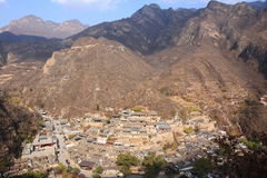 Ming Dynasty-Dorf von Cuandixia stockbild