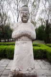 The Ming Dynasty Eunuch stone statue. The ming tombs in anhui province,Ming Dynasty's founding emperor Zhu Yuanzhang's parents were buried here .These stone Royalty Free Stock Photos