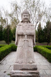 The Ming Dynasty general stone statue Stock Photos