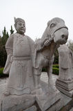The Ming Dynasty  stone statue Stock Photos