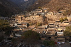 Ming Dynasty village of Cuandixia. Cuandixia village was originally built in the Ming Dynasty with a history of nearly 500 years. The village is 90 km west of stock image