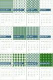 Ming e Bilbao coloriram o calendário geométrico 2016 dos testes padrões ilustração royalty free