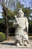 Ming Gräber: Statue des Kriegers. Lizenzfreie Stockfotos