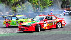 Ming Hui competing with Davide at Formula Drift Stock Images