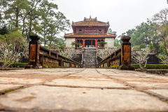 Ming Mang Emperor Tomb in Hue, Vietnam. Minh Lau pavilion at Ming Mang Emperor Tomb in Hue, Vietnam Royalty Free Stock Photo
