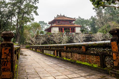 Ming Mang Emperor Tomb i ton, Vietnam Arkivbild