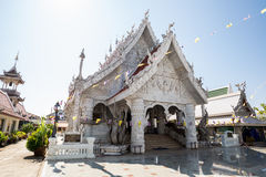 Ming Muang Temple Center city Pillar, White church Royalty Free Stock Images
