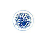 Blue ming plate detail Stock Photography