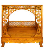 Ming-style furniture of hardwood. The ancient bed chinese furniture hardwood embossment ming-style silkwood front modelled after an antique in the style of the Stock Photography