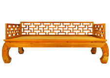 Ming-style furniture of hardwood. Opium bed Stock Image