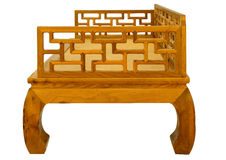 Ming-style furniture of hardwood. Opium bed Royalty Free Stock Image