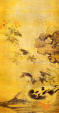 Ming Sun Long Hibiscus and Geese painting Stock Photos