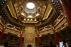 Ming Temple Interior Royaltyfri Bild