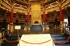 Ming Temple Interior fotografering för bildbyråer