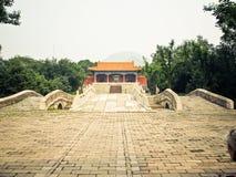 ming tomb för beijing porslin arkivbild