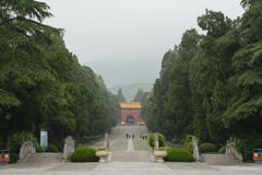 Ming tomb. The Ming Tomb is the tomb of Zhu Yuanzhang, first emperor of the Ming Dynasty.The construction system of the Ming Tomb initiated a standard fooloed by Stock Photos
