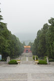 Ming tomb. The Ming Tomb is the tomb of Zhu Yuanzhang, first emperor of the Ming Dynasty.The construction system of the Ming Tomb initiated a standard fooloed by Royalty Free Stock Photos