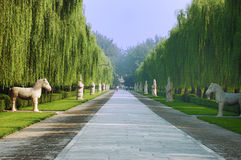 Ming Tombs. Pay homage to the road in the Ming Tombs royalty free stock image