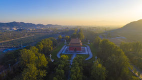 The Ming Tombs beijing china. In sunset royalty free stock photos