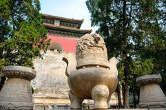 The Ming tombs mausoleum Royalty Free Stock Image