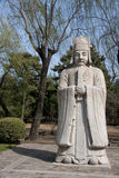 Ming Tombs: statue of bureaucrat. Stock Images