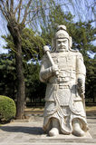 Ming Tombs: statue of warrior. Royalty Free Stock Photos