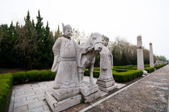 Ming tombs stone statues Stock Photo