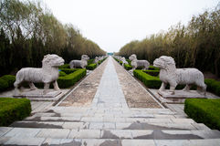 Ming tombs stone statues Royalty Free Stock Photo