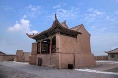 Ming wielkiego muru Jiayuguan miasta teatr Zdjęcia Stock