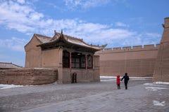 Ming wielkiego muru Jiayuguan miasta teatr Obrazy Stock
