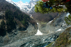 Ming-Yong Glacier, Mei-Li snow mountain Royalty Free Stock Photography
