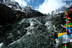 Ming-Yong Glacier, Mei-Li snow mountain Royalty Free Stock Photo
