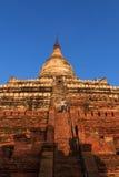 Mingalazedi塔,在缅甸(Burmar)的Bagan 库存图片