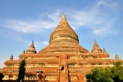 Mingalazedi pagod i Bagan, Myanmar Arkivfoto