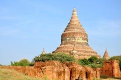 Mingalazedi pagod i Bagan, Myanmar Arkivbilder